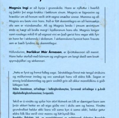 Ævintýri Lilla fyrsti vinurinn (bakhlið)