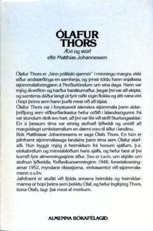 Ólafur Thors ævi og sögur (bakhlið)