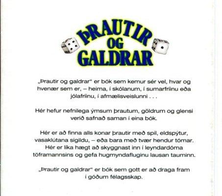 Þrautir og galdrar - Tómstundabækur Iðunnar (bakhlið)