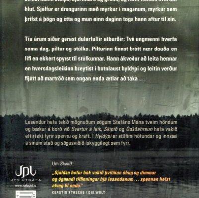 Hyldýpi eftir Stefán Mána bakhlið