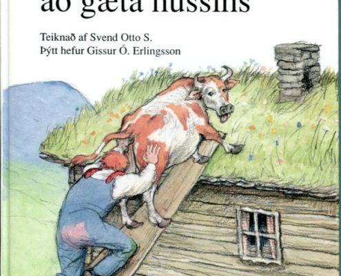 Maðurinn sem átti að gæta hússins framhlið
