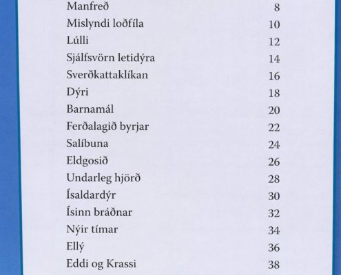 Ísöld ómissandi leiðarbók. Efnisyfirlit