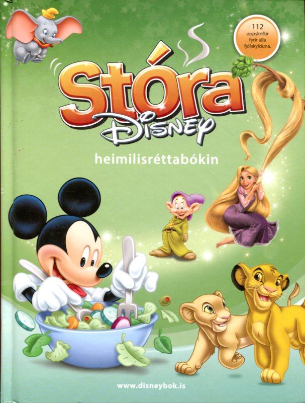 Stóra Disney heimilisréttabókin forsíða