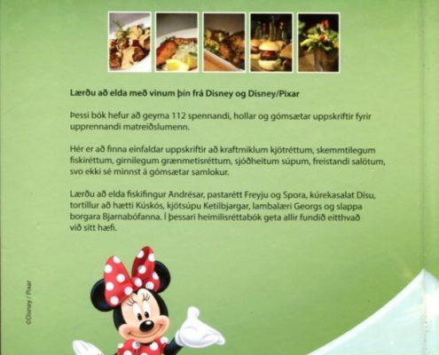 Stóra Disney heimilisréttabókin baksíða