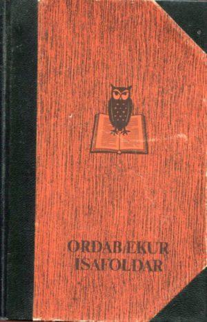 Þýsk íslensk orðabók Ísafoldar framhlið