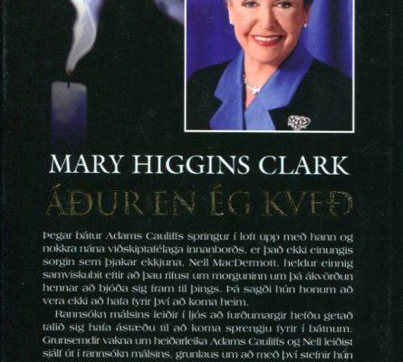 Áður en ég kveð Mary Higgins Clark bakhlið