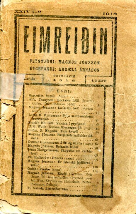 Eimreiðin, 1918, 1-2 tbl