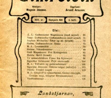 Eimreiðin, 1919, 2 tbl