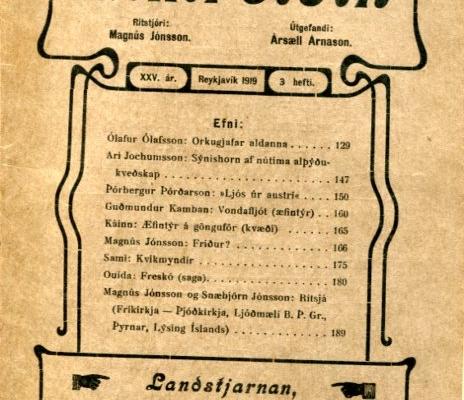 Eimreiðin, 1919, 3 tbl
