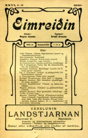 Eimreiðin, 1920, 1-2 tbl