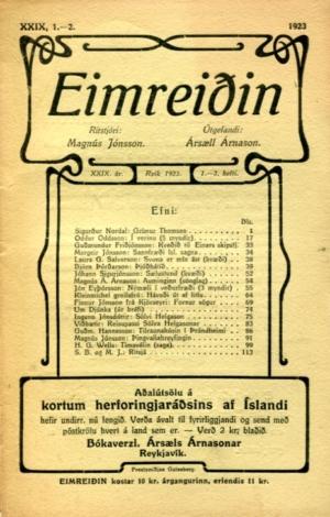 Eimreiðin, 1923, 1-2 tbl