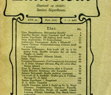 Eimreiðin, 1924, 1-2 tbl