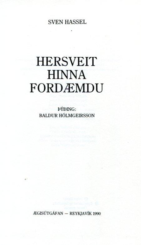 Hersveit hinna fordæmdu - Sven Hassel
