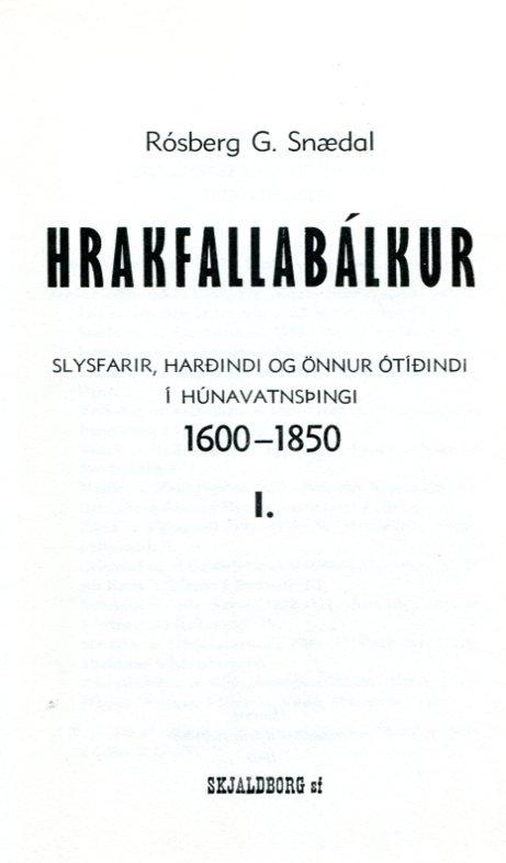 Hrakfallabálkur 1600-1850