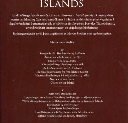 Landfræðissaga Íslands II bakhlið