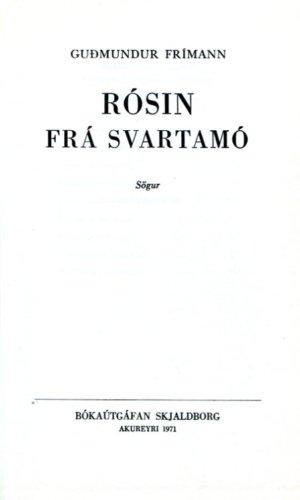 Rósin frá svartamó - Guðmundur Frímann